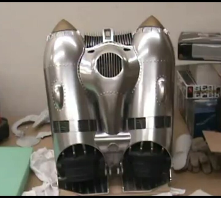 Rocketeer jet pack made out of resin cast