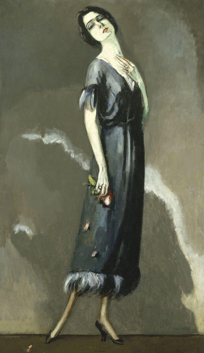 kees van dongen   portrait de madame maria ricotti dans 'l'enjôleuse'   1921
