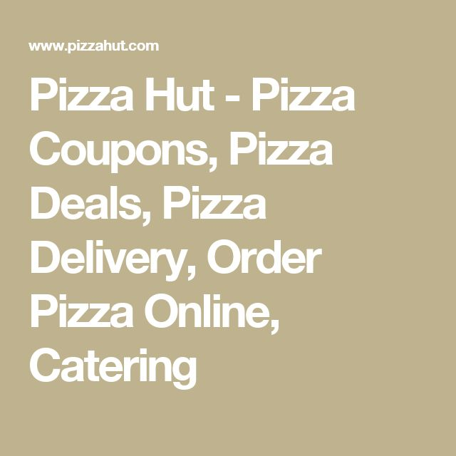 Pizza hut online order coupon code