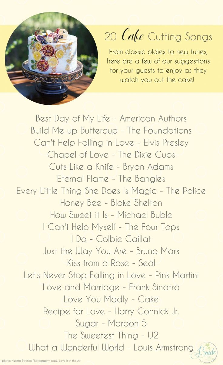 20 Cake Cutting Songs to Use While Cutting Your Cake as seen on Hill City Bride Wedding Blog
