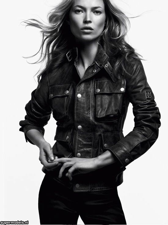 Kate Moss for Belstaff 2011. I love that Kate can don a pair of heavy leathers and the 'Tom-boy' in her is at ease with it. She looks cool in this cool brand. A perfect pairing and a free spirit till the end..x