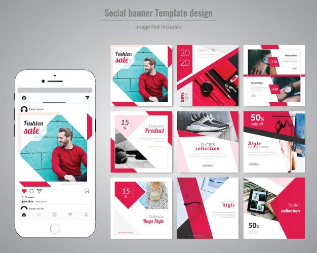 Red Fashion Social Media Post Template Social Media Design Graphics Instagram Design Instagram Design Layout