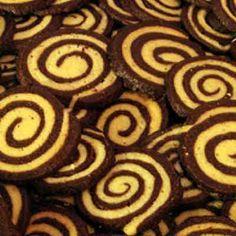 Galletas en espiral de chocolate y vainilla