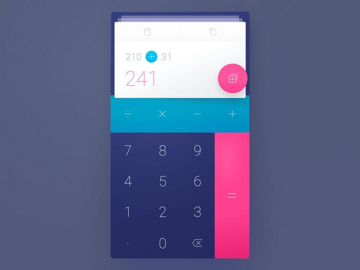 Calculator by Roland Lehle #UX/UI Designer #WeeklyUI #Challenge