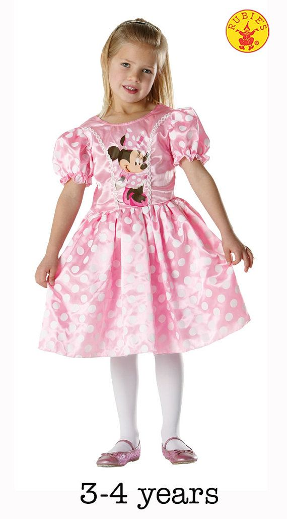 Classic Pink Minnie Mouse Dress For Girls by LastFinishingTouch