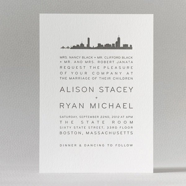 Personalized Skyline Wedding Invitations: 22 Best Images About NYC Theme Invites On Pinterest