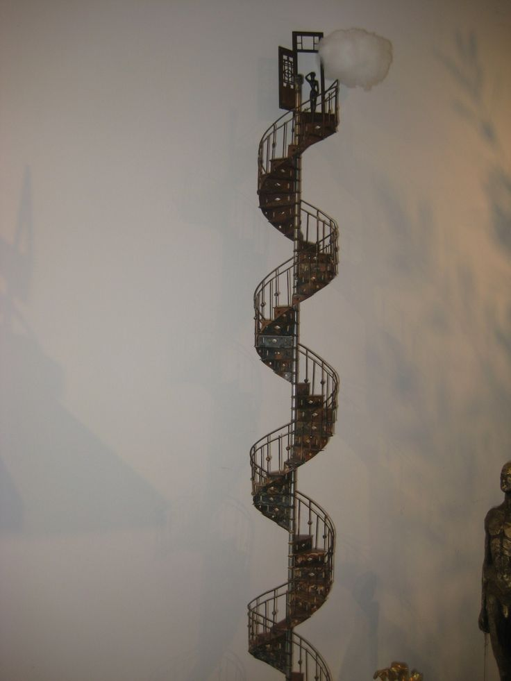 Utopia staircase by Stelios Gavalas, 1.10cm (hight) with figure