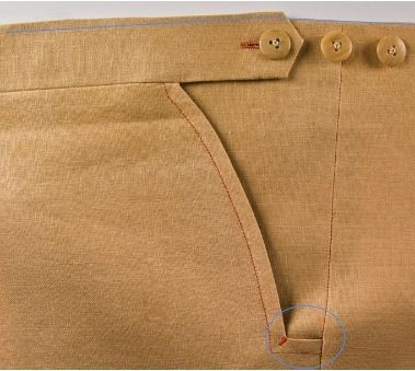 """David P Coffin - moveable waist - nice blog of fine tailoring techniques, with link to his book """"On Making Pants"""""""