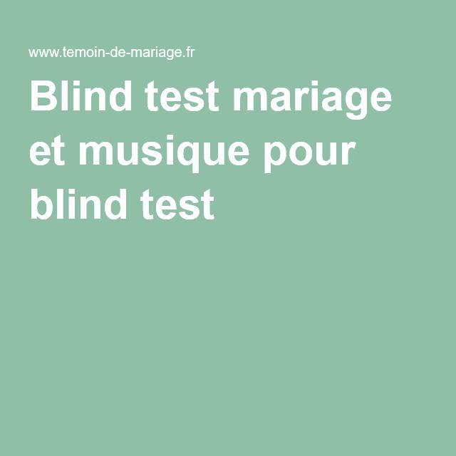 Blind test mariage et musique pour blind test
