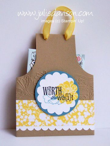 Julie's Stamping Spot -- Stampin' Up! Project Ideas Posted Daily: Fabulous Florets Apron Pouch Tutorial