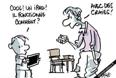 image drole - Cool un iPad !