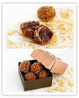 Chokladtryfflar med citrongräs