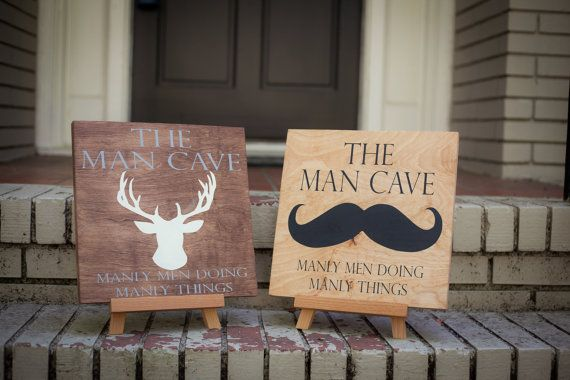 Man Cave Signs Wooden : Man cave sign with deer wood signs and etsy