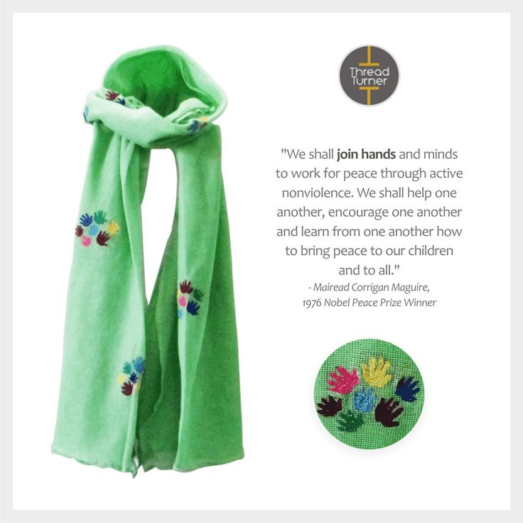 #WorldPeace #Collaborate  In this pic: Thread Turner 'Collaborate' Scarf