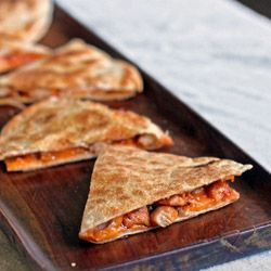 BBQ Chicken Quesadillas ~ Lots of other great recipes on this site!
