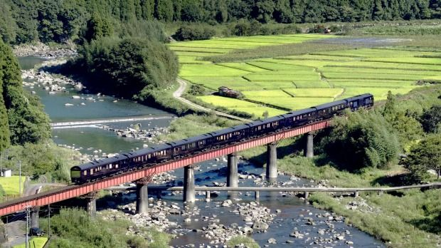 Cultural gem: Seven Stars, operated by JR Kyushu Railway Company, journeys around Japan's lush, volcano-studded southernmost main island.