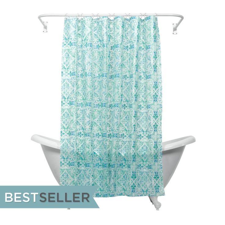 Teal Shower Curtain Liner