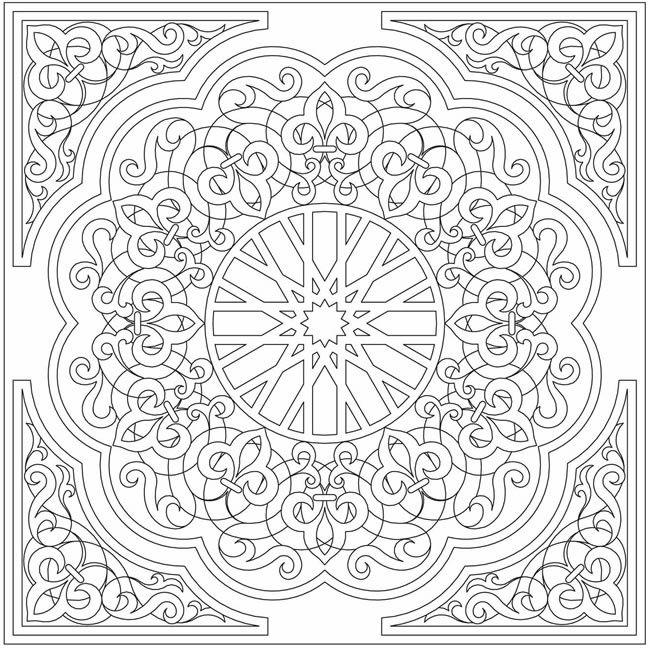mandala coloring pages pinterest | tuub - Mandala Boyama Sayfaları / Mandalas coloring pages ...