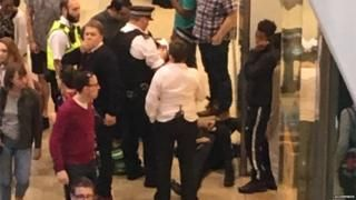 Man stabbed in Stratford Westfield shopping centre 'mass brawl'