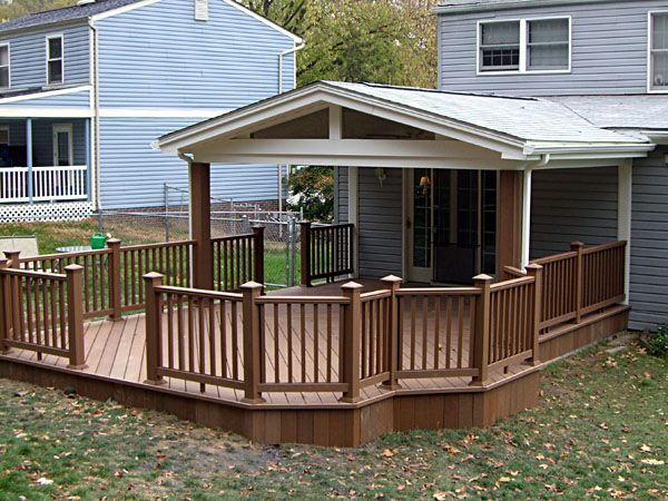 Covered back porch designs covered deck ideas the for Small house deck designs