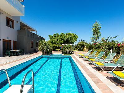 Rethymno villa rental - 50 m2 private swimming pool and 1.40-1.60m deep.