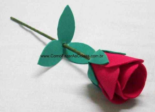 Flor ou rosa de e.v.a