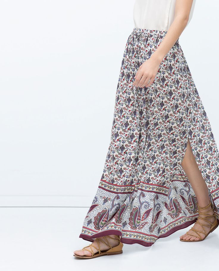 Image 3 of LONG PRINTED SKIRT from Zara