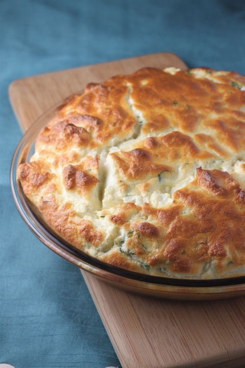 "Cauliflower and cheddar souffle - the word ""souffle"" scares me but this looks so good it may be worth a try."