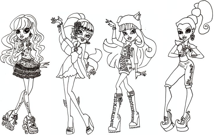 Monster high pets coloring pages free monster high 13 for Monster high coloring pages 13 wishes