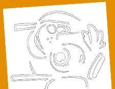 paw patrol pumpkin stencil skye halloween stencils. Black Bedroom Furniture Sets. Home Design Ideas
