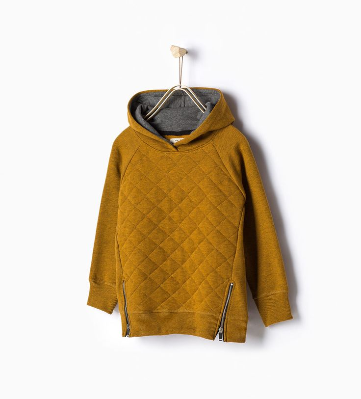 Quilted sweatshirt with hood-Sweatshirts-Boy | 4-14 years-KIDS | ZARA United Kingdom