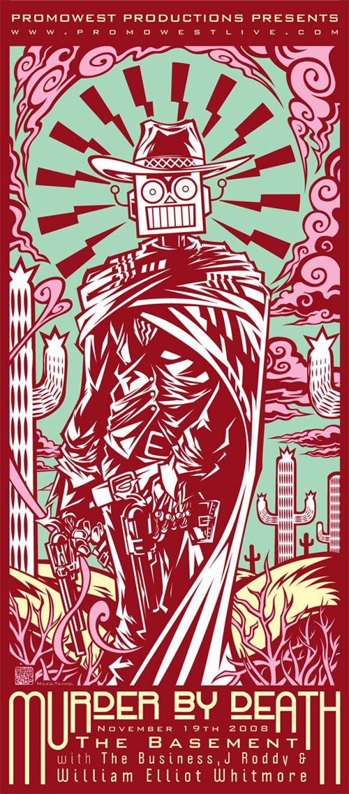 Murder By Death - gig poster