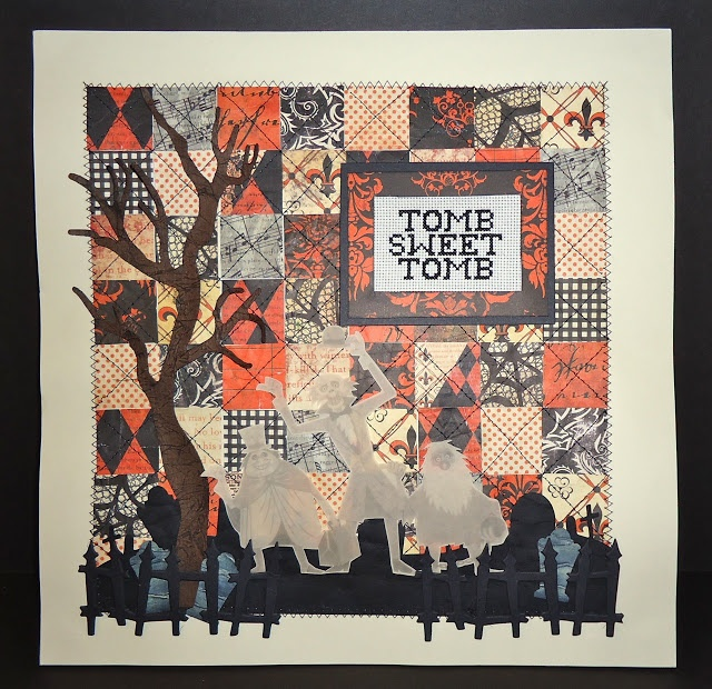 Look at this Halloween quilt. LOOK AT IT. @Akayleia Frehner I have a weird thing for Halloween quilts now...