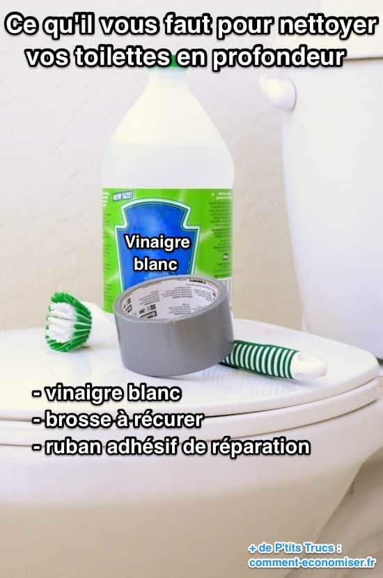 Quelles sont les choses nécessaires pour bien nettoyer les toilettes ?