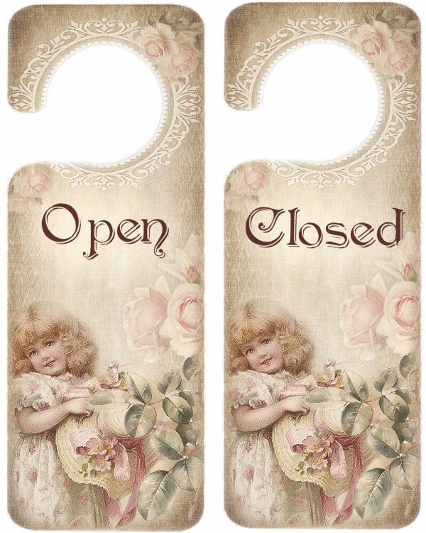 Simply print and hang or add to wooden door hangers with embellishments for spectacular hangers!