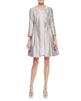 3/4-Sleeve Doupioni Jacket & Short-Sleeve Dress by Armani Collezioni at Bergdorf Goodman.