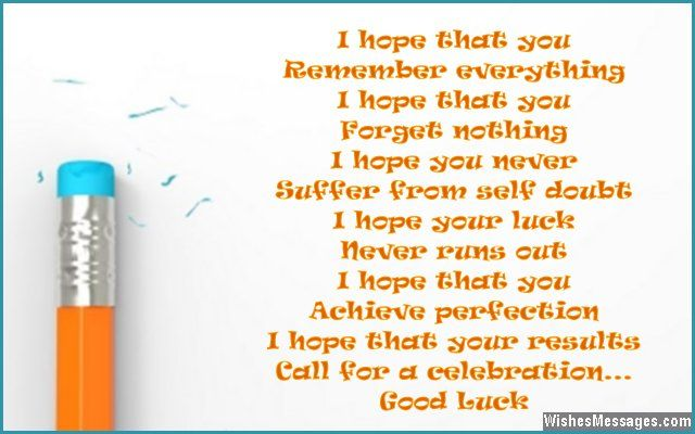 Good Luck Poems for Exams: Best Wishes for Exams