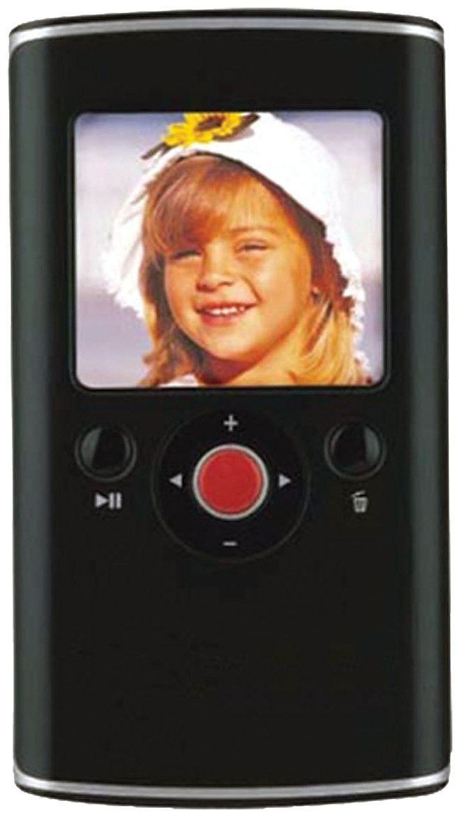 """Curtis VR223-Black Digital Camera/Camcorder with 2-Inch Screen 4X Zoom (Black). Mini digital camcorder with 2"""" LCD screen and 1.3MP CMOS sensor with 4x digital zoom. Convenient integrated USB 2.0 hi-speed plug for fast file transfers. Up to 8GB memory with optional SD/SDHC card, edit video and upload to YouTube. Video resolution; VGA (640 x 480) @ 30fps, AV file (Motion JPEG codec). Take still pictures or videos."""