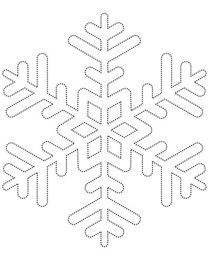Snowflake template.