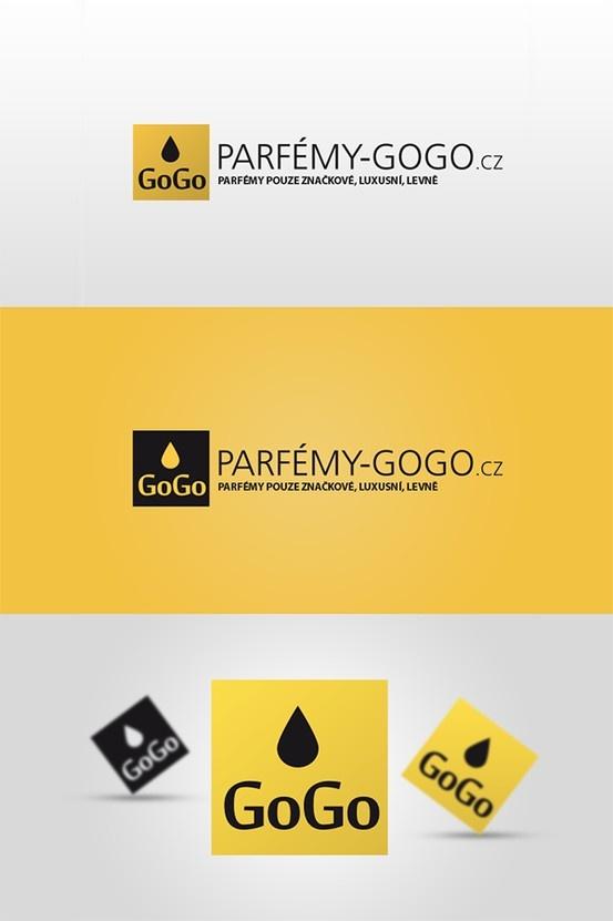 Parfémy GoGo nabízejí pouze parfémy značkové, luxusní a hlavně velmi levne parfemy. Logotyp k internetovému obchodu www.parfemy-gogo.cz
