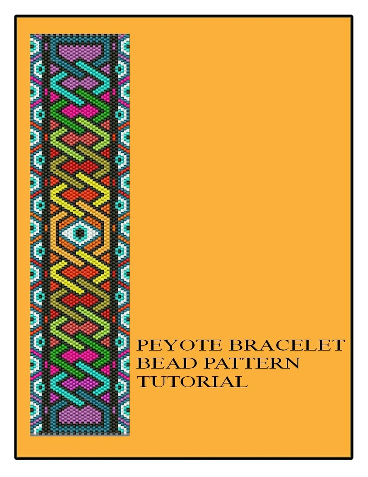 Evil Eye Protection Geometrical Design Celtic knot Beaded Bracelet Peyote Tutorial Chart Instructions PDF $5.50  https://www.etsy.com/listing/120289609/evil-eye-protection-geometrical-design