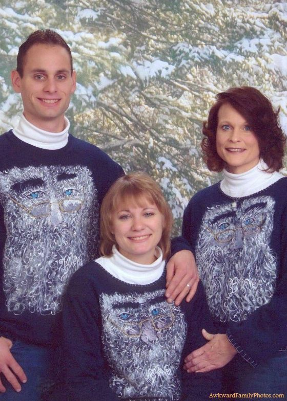 Nothing says the holidays like a sweater full of facial hair