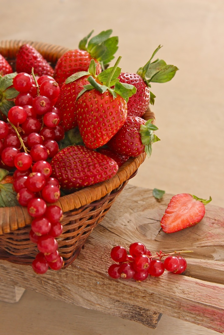 Strawberries and Redcurrants