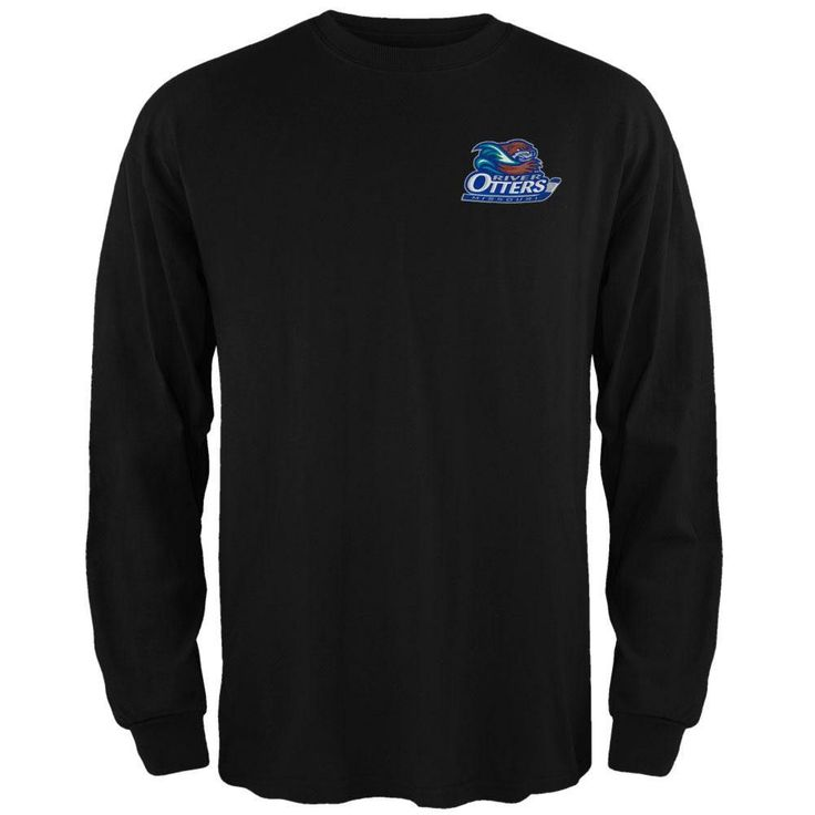 Missouri River Otters - Dual Logo Black Long Sleeve T-Shirt
