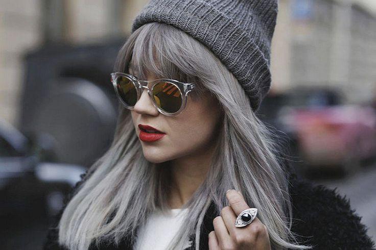 Cheveux gris mode 2016 une tendance qui vient avec un