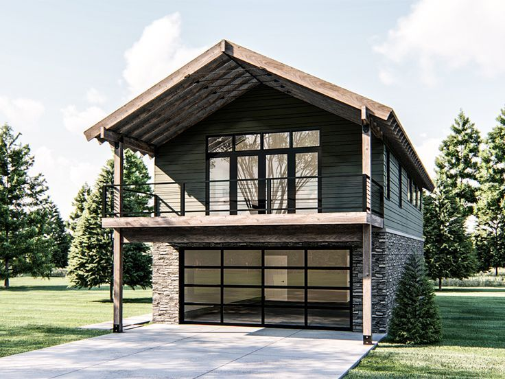 050g 0099 Carriage House Plan With Boat Storage In 2020 Carriage House Plans Garage Apartment Plan Farmhouse Apartment