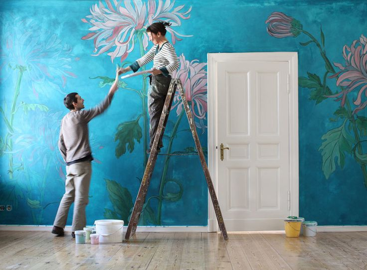 German Atelier Wall Murals And Hand Painted Es