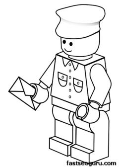 printable lego postman coloring pages boy kids spuerheroes fargelegge tegninger - Coloring For Boy