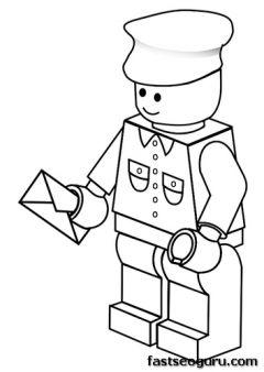 Printable  Lego postman coloring pages Boy  kids Spuerheroes fargelegge tegninger