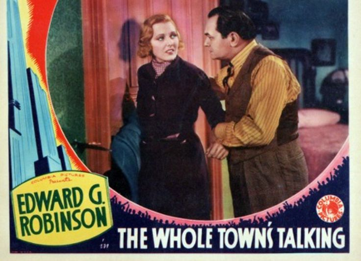 Risultati immagini per the whole town's talking film 1935
